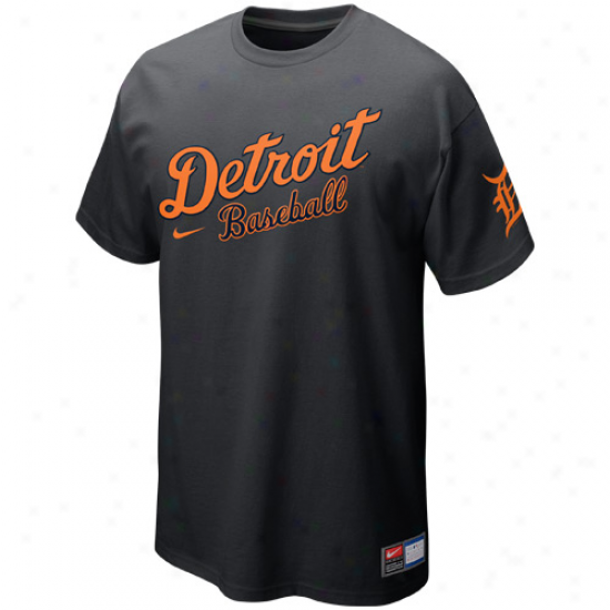 Nike Detroit Tigers Away Practice T-shirt - Graphite