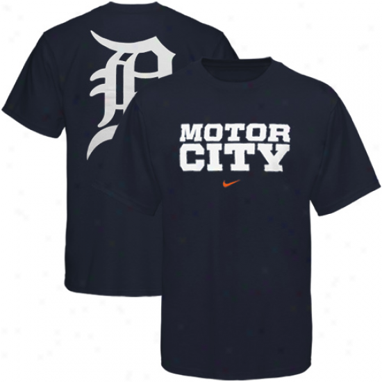 Nike Detroit Tigers Navy Blue Local T-shirt
