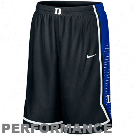 Nike Duke Pedantic  DevilsB lack Authentic Woven Player Basketball Performance Shorts