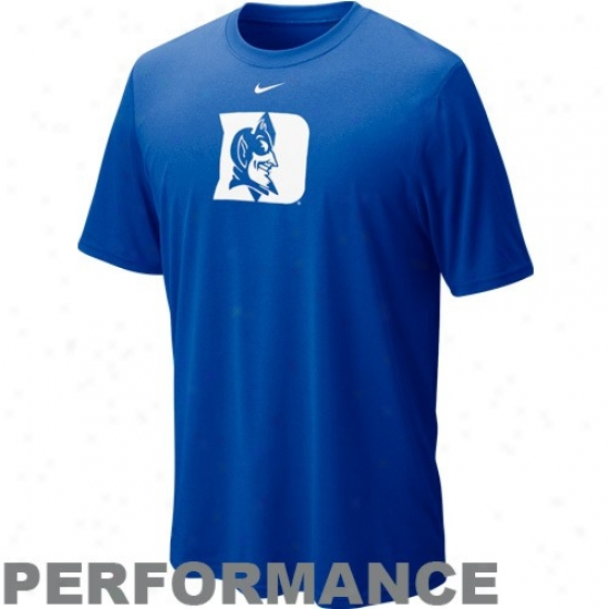 Nike Duke Blue Devils Duke Blue Legend Logo Performance T-shirt