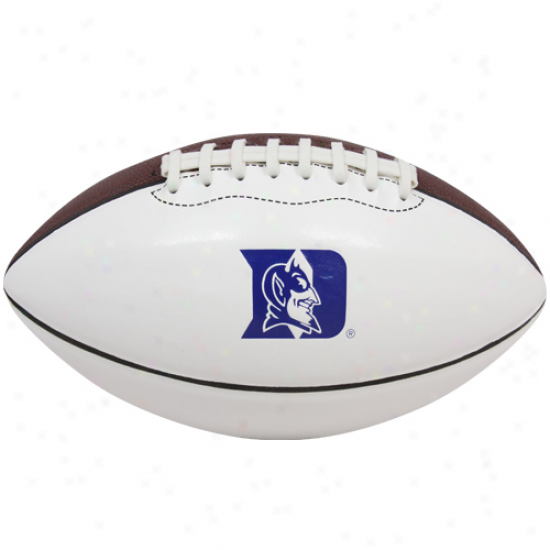 Nike Duke Blue Devils Youth White-brown Mini Autograph Football