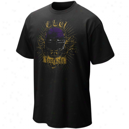 Nike East Carolina Pirates Black Seasonal Football T-shirt