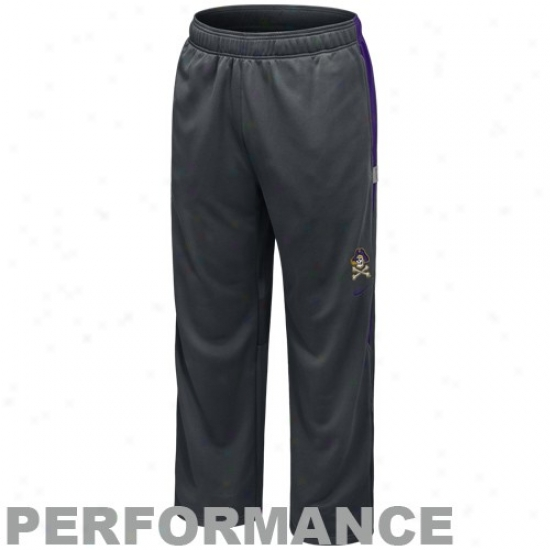 Nike East Carolina Pirates Charcoal Players Warm-up Training Performance Pants
