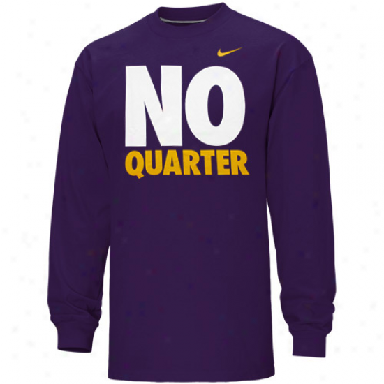 Nike East Carolina Pirates No Allot Long Sleeve T-shirt - Purple
