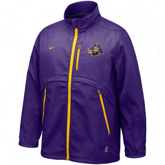 Nike East Carolina Pirates Purple Conference Hybrid Full Zip Jacket