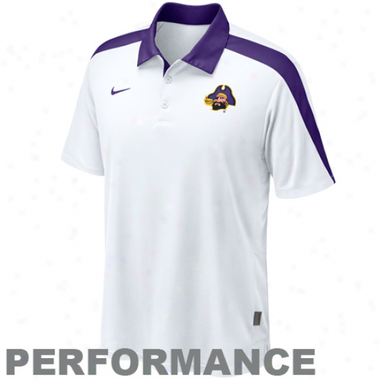 Nike East Carolina Pirates Of a ~ color Claches Hot Route Perforjance Polo