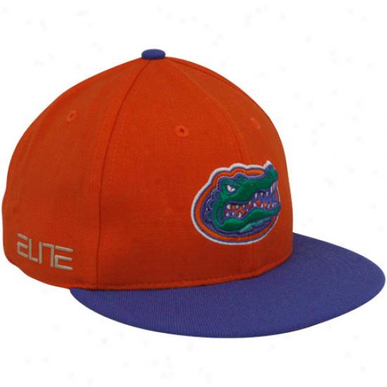 Nike Florida Gators Orange Elite Fitted Flat Brim Hat