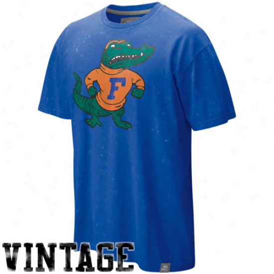 Nike Florida Gators Royal Blue College Vault Seasonal Lava Wash Vintagr T-shirt