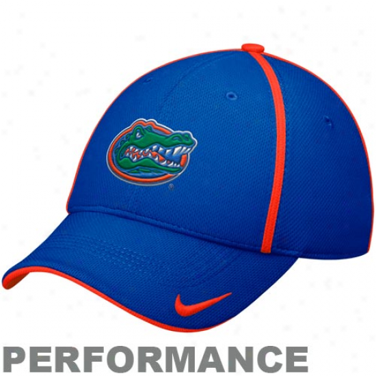 Nike Florida Gators Royal Blue Legacy 91 Meeting for consultation Swoosh Ii Fle xPerformance Hat