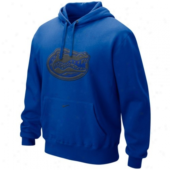 Nike Florida Gators Royal Blue Seasonnal Tackle Twill Logo Hoody Sweatshirt