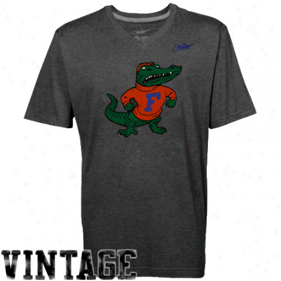 Nike Florida Gators Tri-blend V-neck Vault T-shirt - Charcoal