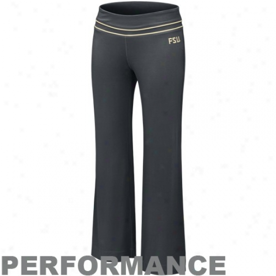 Nike Florida State Seminoles (fsu) Ladies Charcoal Be Strong Performanec Pants