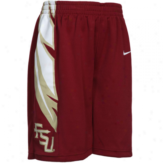 Nike Florida State Seminoles (fsu) Preschool Garnet Replica Mesh Basketball Shorts