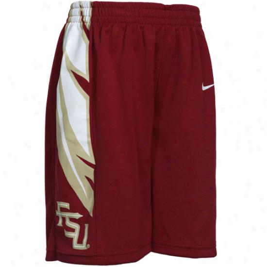 Nike Florida State Seminoles (fsu) Preschool Garnet Replica Mesh Basketball Shorts