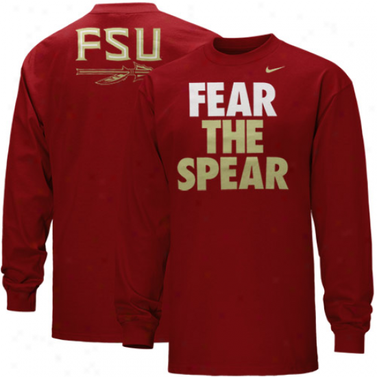 Nike Florida State Seminoles (fsu) Youth Local Long Sleeve T-shirt - Garnet