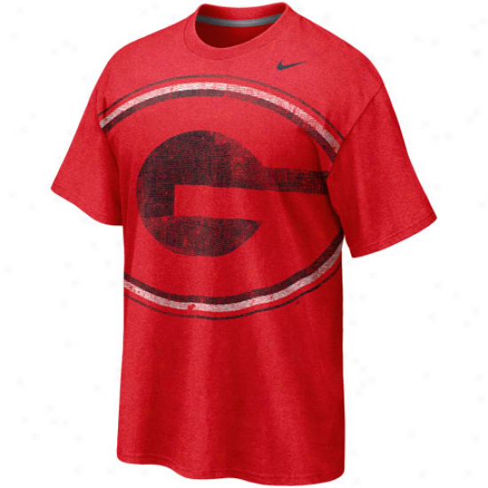 Nike Georgia Bulldogs Big Time Tri-blend T-shirt - Red