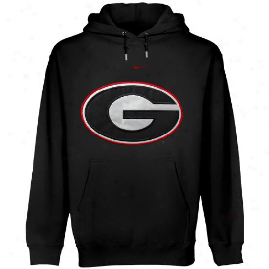 Nike Georgia Bulldogs Black Classic Logo Pullover Hoodie Sweatshirt