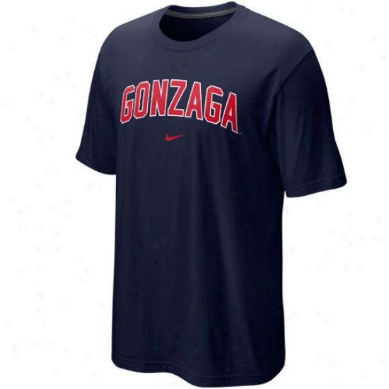 Nike Gonzaga Bulldogs Arch T-shirt - Navy Blue