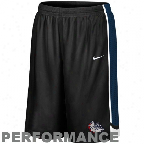 Nike Gonzaga Bulldogs Black Aerographic Performance Twill Basketball Shorts