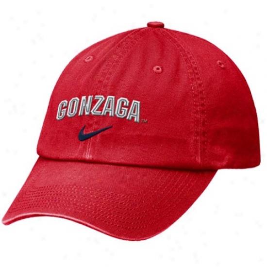Nike Gonzaga Bulldogs Red Heritage 86 Campus Adjustable Hat