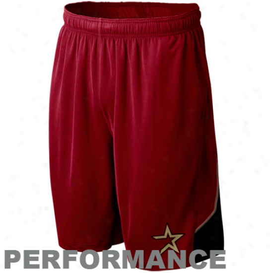 Nike Houston Astros Brick Red Mlb Authentic Collection Performance Training Shorts