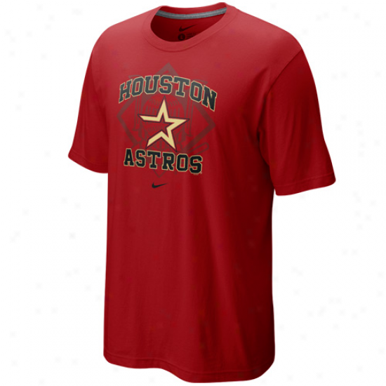 Nike Houston Astros Brick Red Team Arch T-shirt
