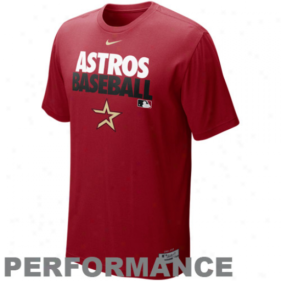 Nike Houston Astros Graphc Dri-fit Performance T-shirt - Red