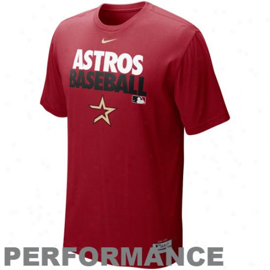 Nike Houston Astros Graphc Dri-fit Performance T-shirt - Red