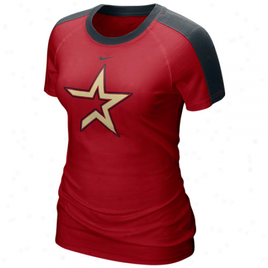 Nike Houston Astros Ladies Red Center Field T-shirt