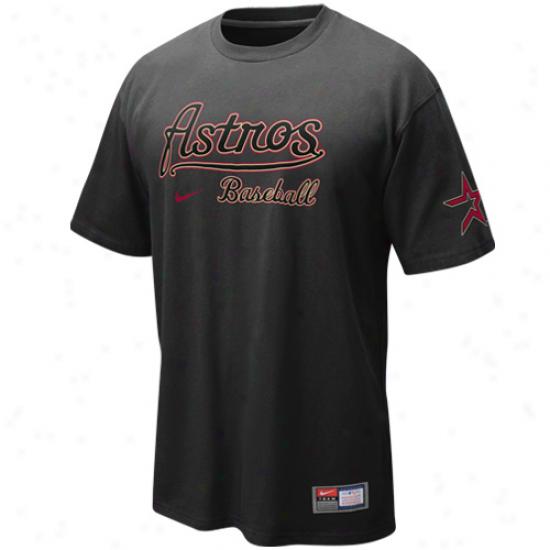 Nike Houston Astros Actions T-shirt - Graphite