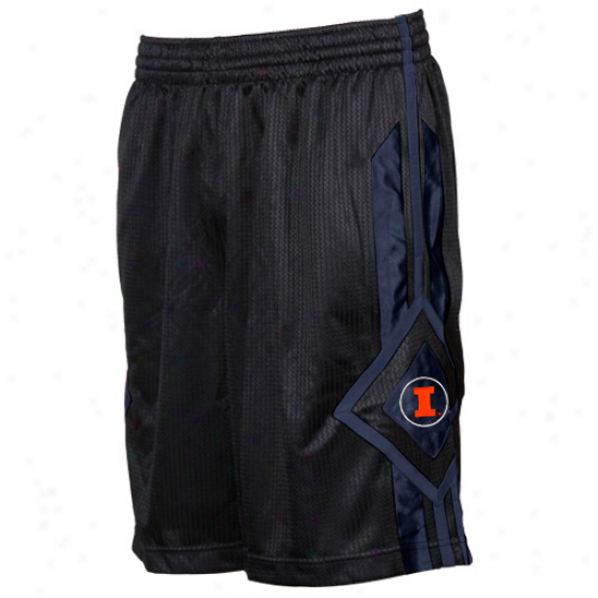 Nike Illinois Fighting Illini Charcoal In Your Face Basketball Shorts