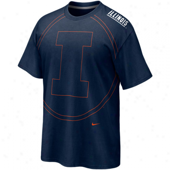 Nike Illinois Fighting Illini Navy Blue Blow Out T-shirt