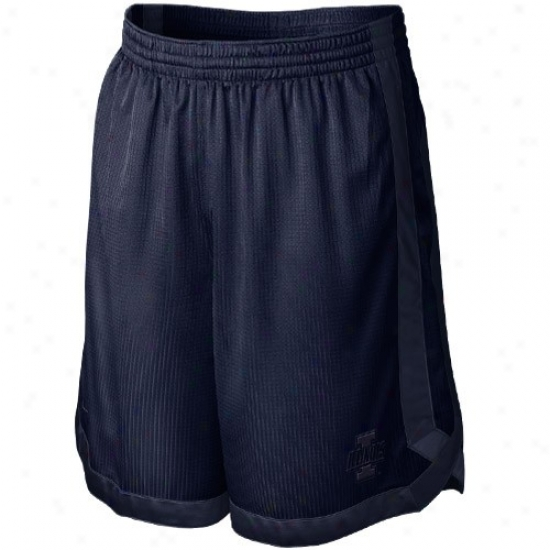 Nike Illinoie Fighting Illini Navy Blue D-up Mesh Shorts