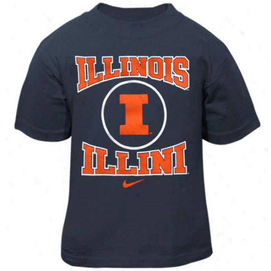 Nike Illinois Fighting Illini Todddler Navy Blue Mascot T-shirt