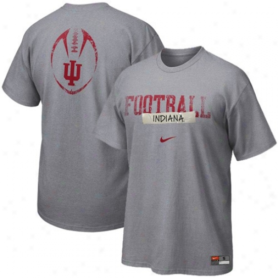 Nike Indiana Hoosiers Ash Team Issue T-shirt