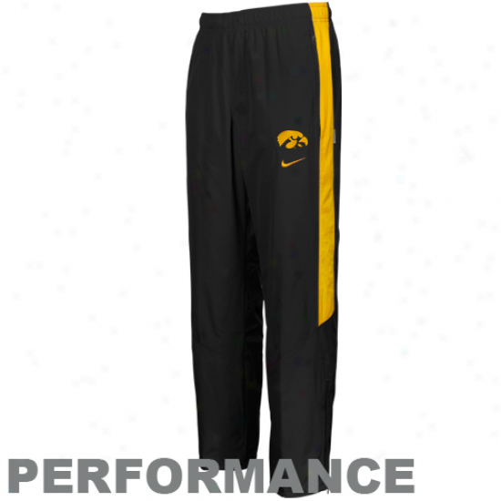 Nike Iowa Hawkeyes Black Backfield Woven Peformance Pants