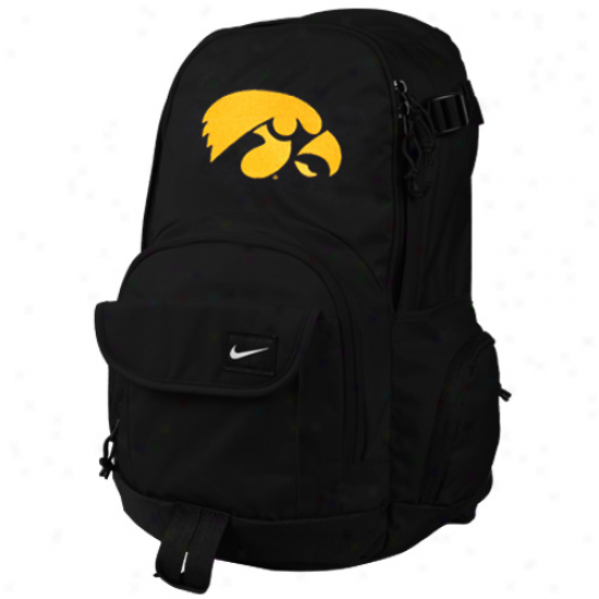 Nike Iowa Hawkeyes Black Fundamentals Fullfare Backpack