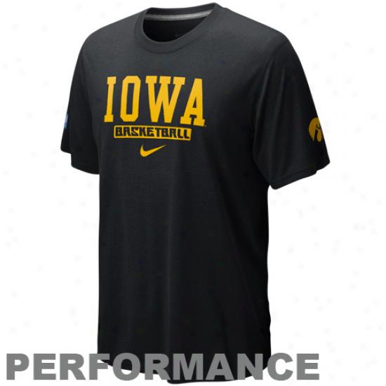 Nike Iowa Hawkeyes Fadeaway Three Legend Performance T-shirt - Black