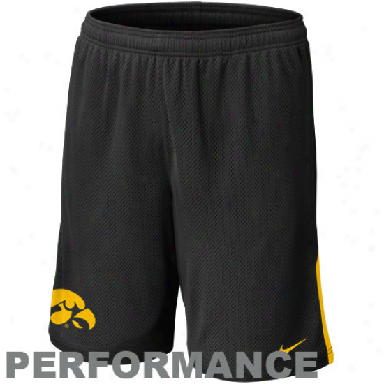 Nike Iowa Hawkeyes Monsrer Mesh Performance Shorts - Black