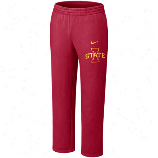 Nike Iowa State Cyclones Cardinal Classic Fleece Pants