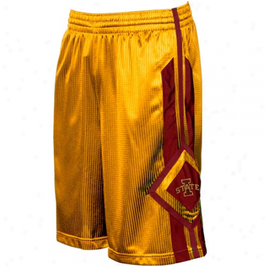Nike Iowa National Cyclones Gold In Your Face Basketball Shorts