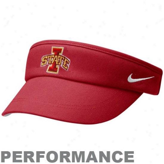 Nike Iowa State Cyclones Red Coaches Performance Adjustable Visor