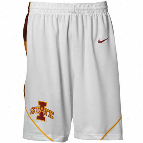 Nike Iowa State Cyclones White Replica Basketball Shorts