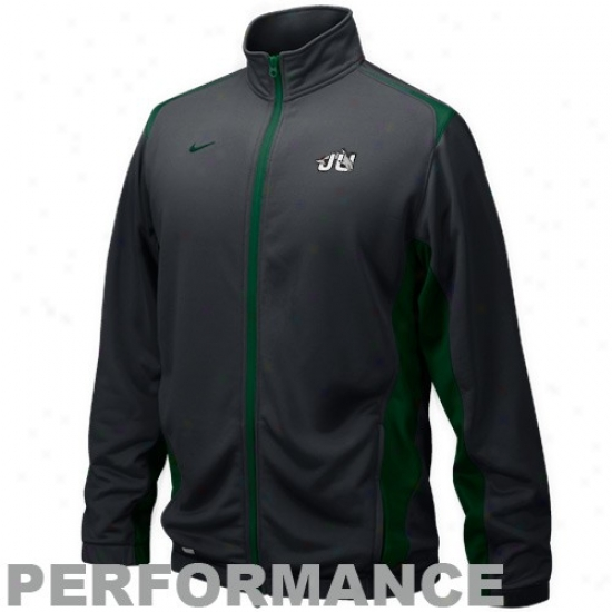 Nike Jacksonville University Dolphins Black Players Warm-up Training Performance Full Zip Jackwt