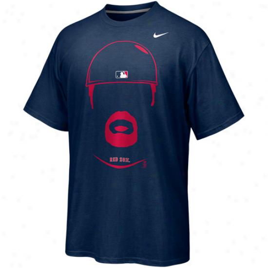 Nike Jason Varitek Boston Red Sox Hair-itage Player T-shirt - Navy Blue