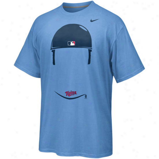 Nike Joe Mauer Minnesota Twins Hair-itage Player T-shirt - Light Blue