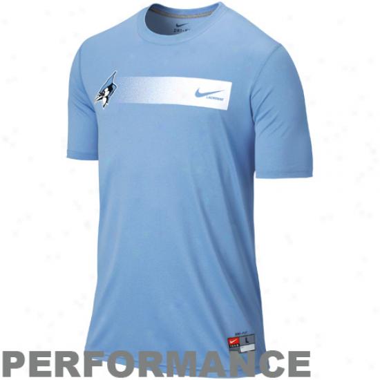 Nike Johns Hopkins Blue Jays Lacrosse Legend Performance T-shirt - Light Blue