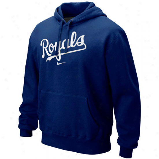 Nike Kansas City Royals Classic Pullover Hoodie - Royal Blue