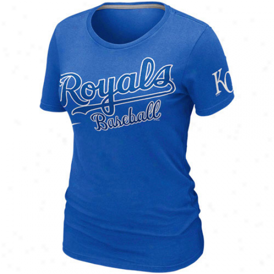 Nike Kansas City R0yals Ladies Premium Practice T-shirt - Royal Blue