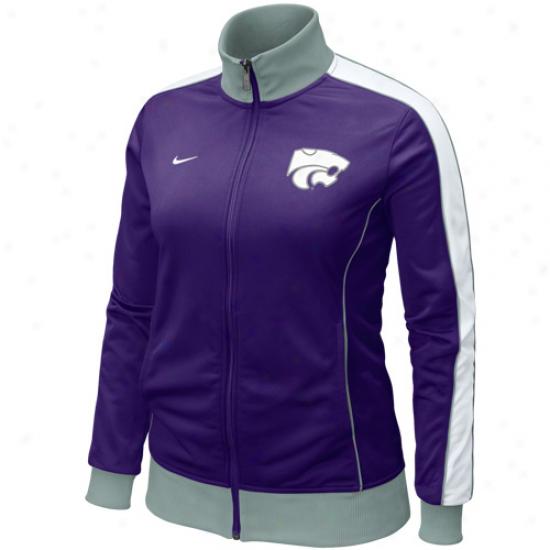 Nike Kansas State Wildcats Ladies Purple Mine's Better Full Zip Track Jacket